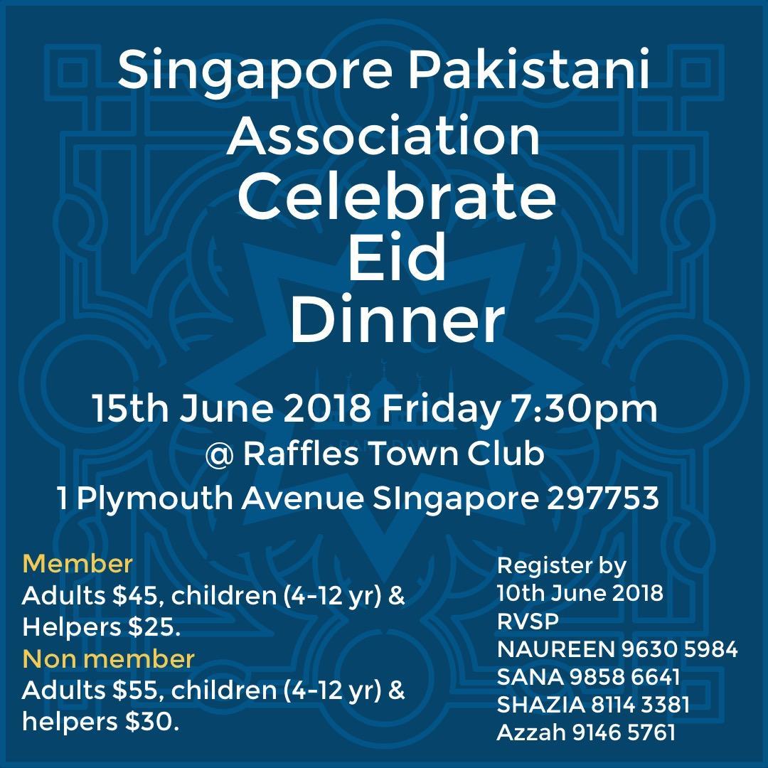 Spa Eid Ul Fitr 2018 Singapore Pakistani Association